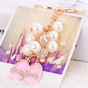 NEW Cute Pearl Shoes Handbag Charm / Keychain 42